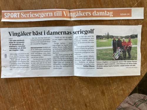 Reportage om Vingåkers Damlag 2021